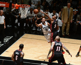2014 NBA Finals Game Two: Jun 8, Miami Heat vs San Antonio Spurs - Tony Parker, Rashard Lewis Photographic Print by Garrett Ellwood
