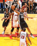 2014 NBA Finals Game Three: Jun 10, Miami Heat vs San Antonio Spurs - Boris Diaw Photographic Print by Andrew Bernstein