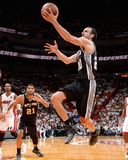 2014 NBA Finals Game Four: Jun 12, Miami Heat vs San Antonio Spurs - Manu Ginobili Photographic Print by Andrew Bernstein