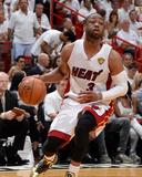 2014 NBA Finals Game Four: Jun 12, Miami Heat vs San Antonio Spurs - Dwayne Wade Fotografisk tryk af Andrew Bernstein