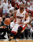 2014 NBA Finals Game Four: Jun 12, Miami Heat vs San Antonio Spurs - Dwayne Wade Photographic Print by Andrew Bernstein