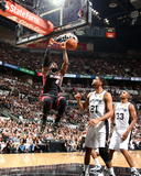 2014 NBA Finals Game Five: Jun 15, Miami Heat vs San Antonio Spurs - LeBron James, Tim Duncan Photographic Print by Nathaniel S. Butler