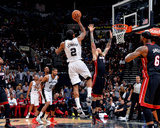 2014 NBA Finals Game Five: Jun 15, Miami Heat vs San Antonio Spurs - Kawhi Leonard Foto av Jesse D. Garrabrant