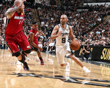 2014 NBA Finals Game One: Jun 5, Miami Heat vs San Antonio Spurs - Tony Parker Photographic Print by Nathaniel S. Butler