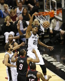 2014 NBA Finals Game Two: Jun 8, Miami Heat vs San Antonio Spurs - Tim Duncan Photographic Print by Joe Murphy