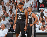 2014 NBA Finals Game Four: Jun 12, Miami Heat vs San Antonio Spurs - Tim Duncan, Tony Parker Photo af Jesse D. Garrabrant