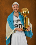 2014 NBA Finals Game Five: Jun 15, Miami Heat vs San Antonio Spurs - Manu Ginobili Photographic Print by Jesse D. Garrabrant