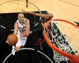 2014 NBA Finals Game Five: Jun 15, Miami Heat vs San Antonio Spurs - Tony Parker, Ray Allen Photographic Print by Andrew Bernstein