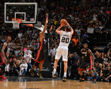2014 NBA Finals Game Two: Jun 8, Miami Heat vs San Antonio Spurs - Manu Ginobili Photographic Print by Jesse D. Garrabrant