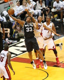 2014 NBA Finals Game Three: Jun 10, Miami Heat vs San Antonio Spurs - Boris Diaw Photographic Print by Joe Murphy