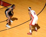 2014 NBA Finals Game Three: Jun 10, Miami Heat vs San Antonio Spurs - Kawhi Leonard, LeBron James Foto af Garrett Ellwood