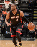 2014 NBA Finals Game Two: Jun 08, Miami Heat vs San Antonio Spurs - Dwayne Wade Photographic Print by Andrew Bernstein