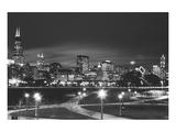 Chicago im Gegenlicht Kunstdrucke