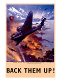 Back Them Up! Raid by Hudsons Bombers on Warships Poster
