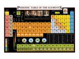 Tabla periódica de los elementos Láminas por Libero Patrignani