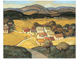 The Village Print by H. Mabel May