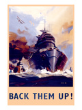 Back Them Up! Floatplanes and Warships Poster