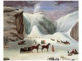 Ice Cone, Montmorency Falls Posters van Robert Clow Todd