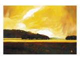 Yellow Storm at the Lake Prints by Judith D'Agostino