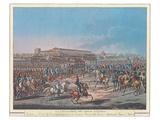 Napoleon et la Garde d'Honneur de Milan Prints