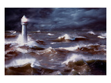 Lighthouse and Waves, South Africa Art