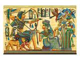 Tutankhamun Hunting Birds Print