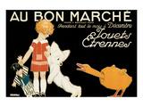 Au Bon Marche, Jouets et Etrennes Posters by René Vincent