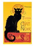 Chat Noir Print van Théophile Alexandre Steinlen