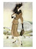 Lady at Airport Planscher av Graham Reynold