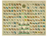 Marine: Correspondance Signals for the Day, c.1712 Posters by Mathieu Seutter