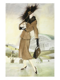 Lady at Airport Posters av Graham Reynold