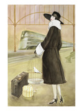 Lady at Train Station Prints by Graham Reynold