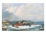 Winter Landscape, c.1849 Print by Cornelius Krieghoff