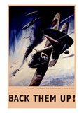 Back Them Up! RAF Hurricanes Working with Russian Air Force Print