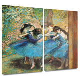 Dancers in Blue 2 piece gallery-wrapped canvas Gallery Wrapped Canvas Set by Edgar Degas