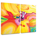 Secret Life of Lily 2 piece gallery-wrapped canvas Prints by Susi Franco