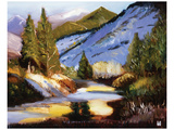 Colorado Mountains Dream Art by Judith D'Agostino