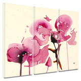 Orchids I 3 piece gallery-wrapped canvas Posters by Karin Johanneson
