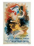 Courrier Francais, A La Tour Eiffel Prints by Jules Chéret