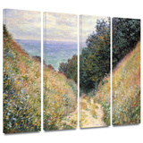 Footpath 4 piece gallery-wrapped canvas Print by Claude Monet