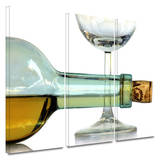 Bottle Plus Glass 3 piece gallery-wrapped canvas Gallery Wrapped Canvas Set by Dan Holm