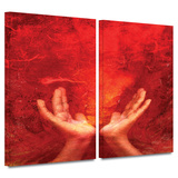 Chakra Fire 2 piece gallery-wrapped canvas Poster by Elena Ray