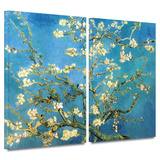Almond Blossom 2 piece gallery-wrapped canvas Posters by Vincent van Gogh