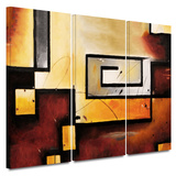 Abstract Modern 3 piece gallery-wrapped canvas Prints by Jim Morana