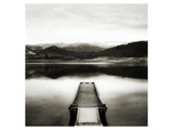Emigrant Lake Dock II in Black and White Posters av Shane Settle