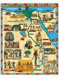 Tourist Mapa de Egipto Póster