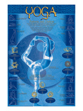 Yoga, Postures and Chakras Prints