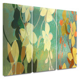 Shadow Florals 3 piece gallery-wrapped canvas Gallery Wrapped Canvas Set by Jan Weiss