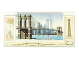 Brooklyn Bridge, New York City Art by Libero Patrignani