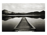 Emigrant Lake Dock I in Black and White Poster by Shane Settle